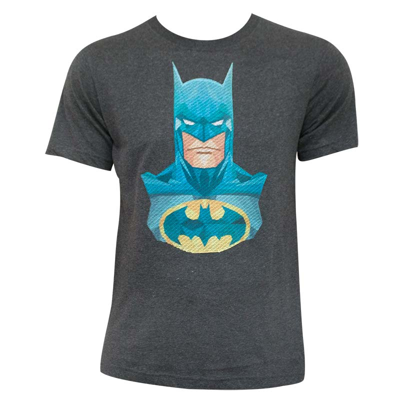 Batman Embroidered Charcoal Tee Shirt