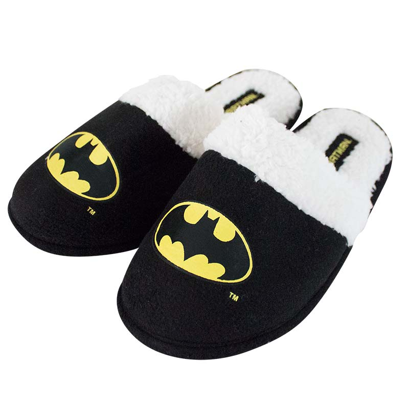 Batman Black Fleece Logo Slippers