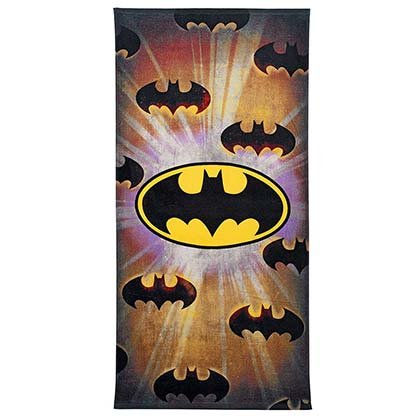 Batman Floating Logo Beach Towel