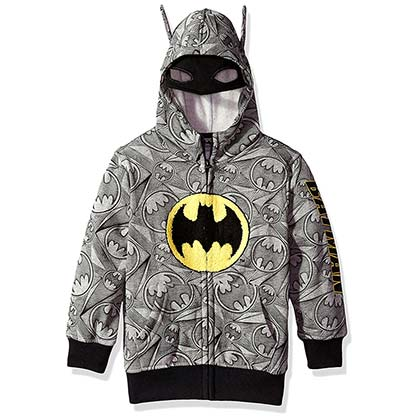 Batman Grey Big Boys Costume Hoodie