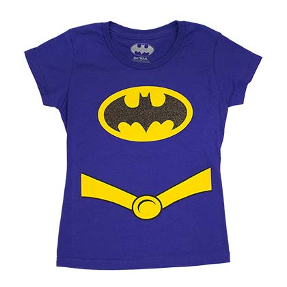 Batman Purple Girls Youth Costume T-Shirt