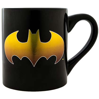 Batman Gold Logo Black 14oz Mug