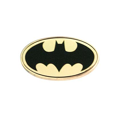 Batman Logo Gold Lapel Pin