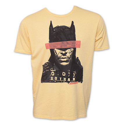 Batman Junk Food Brand Mugshot Portrait Tee
