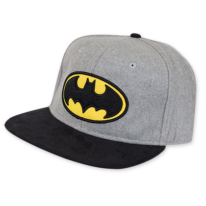 Batman Grey Bat Logo Hat