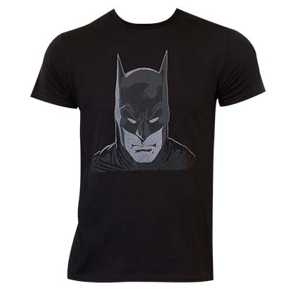 Batman Comic Head Black Shirt