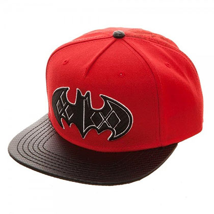 Batman Harley Quinn Red Carbon Fiber Snapback Hat