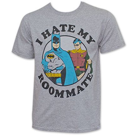 Batman And Robin Men's I Hate My Roommate Tee Shirt