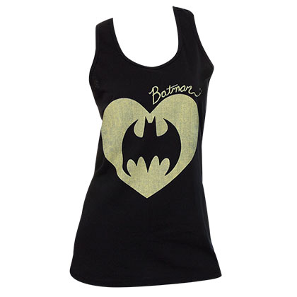 Batman Comic Heart Womens Tank Top