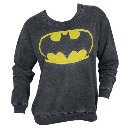 Batman Lightweight Juniors Crewneck Sweatshirt