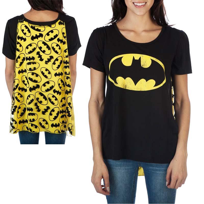 Batman Women's Black Interchangeable Cape Costume T-Shirt