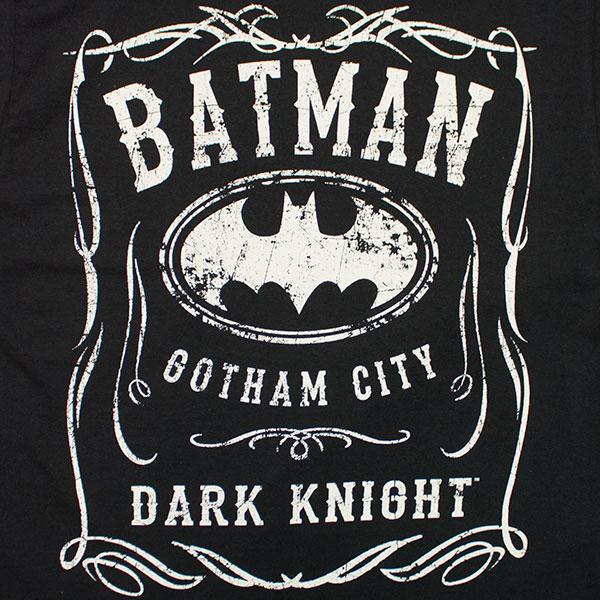 Batman Whiskey-Style Logo Tee Shirt - Black