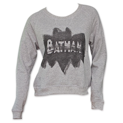 Batman Airbrushed Junk Food Womens Sweatshirt - Gray