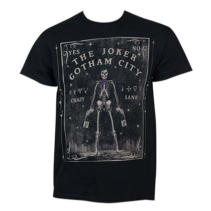 Joker Men's Black Tarot Card T-Shirt