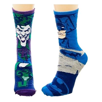 Batman/Joker Reversible Crew Socks