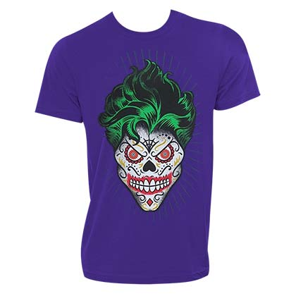 The Joker Sugar Skull Purple Tshirt