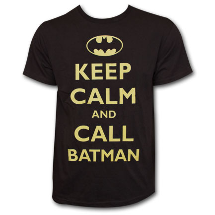 Keep Calm and Call Batman T-Shirt - Black