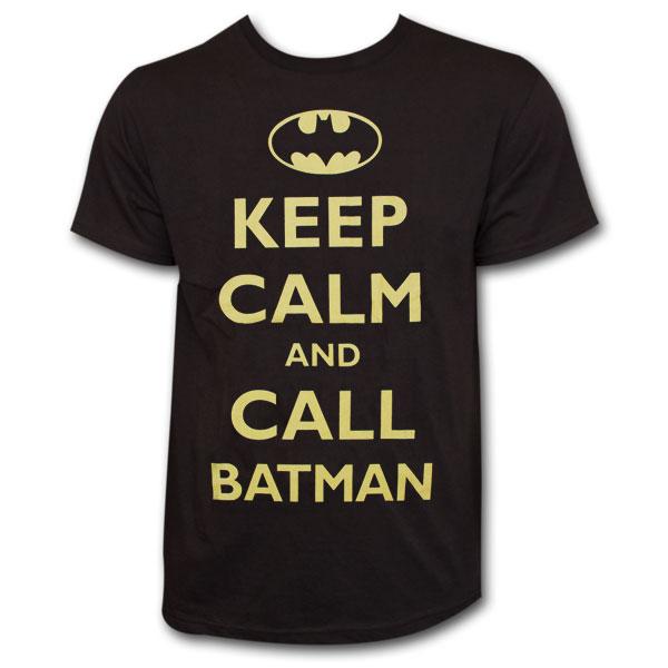 Keep Calm and Call Batman T-Shirt - Black