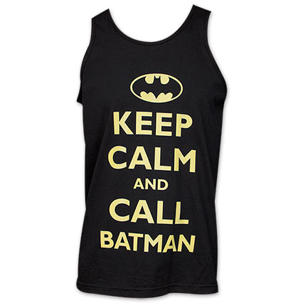 Batman Keep Calm and Call Batman Tank - Black