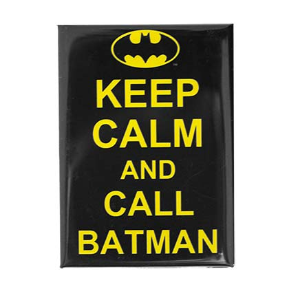 Batman Keep Calm Black Magnet