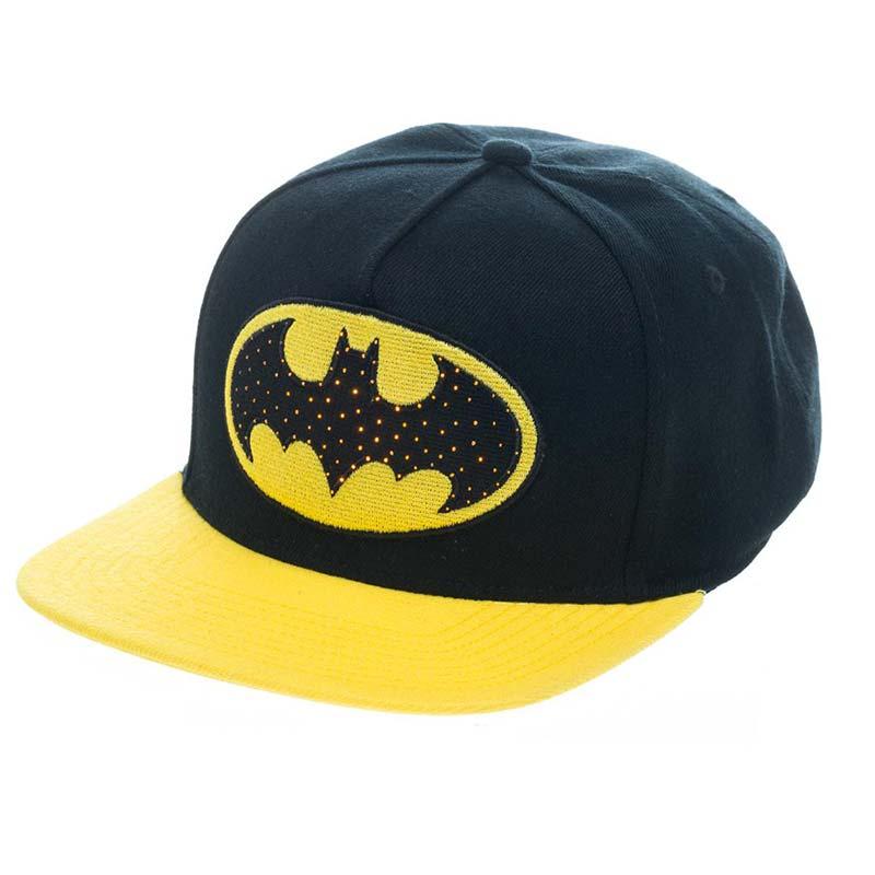 Batman Fiber Optic Light Up Snapback Hat