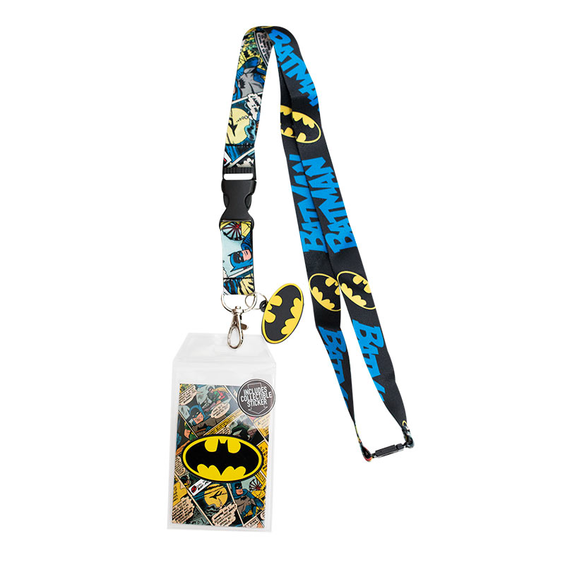 batman bat signal comic lanyard