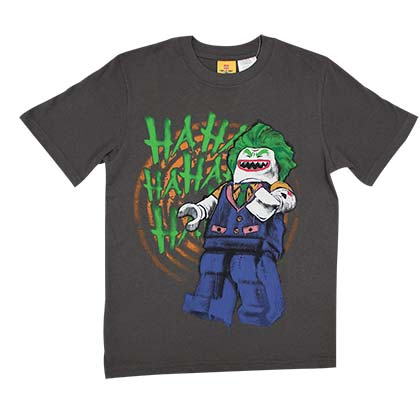 Batman Boy's LEGO Joker HAHA Black T-Shirt