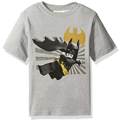 Batman Lego Movie Grey Youth Tee Shirt