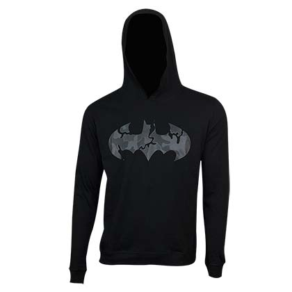 Batman Black on Black Camo Logo Hoodie
