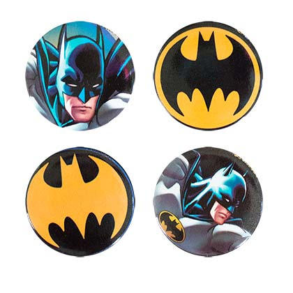Batman Buttons 4 Pack