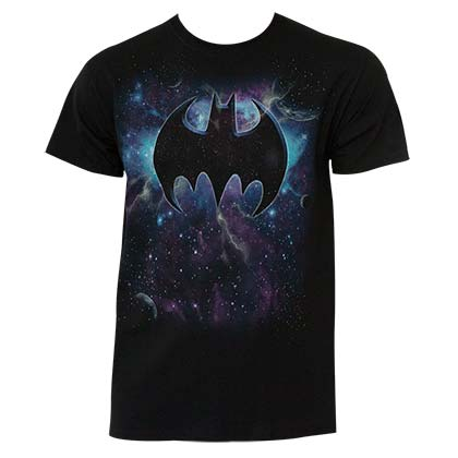 Batman Men's Black Space Logo T-Shirt