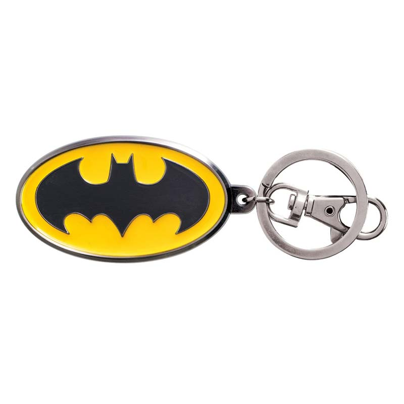 Batman Comic Logo Metal Color Keychain