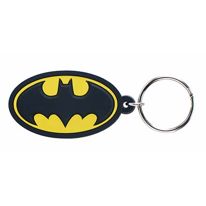 Batman Comic Logo Rubber Keychain
