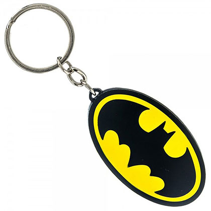 Batman Yellow Bat Logo Keychain