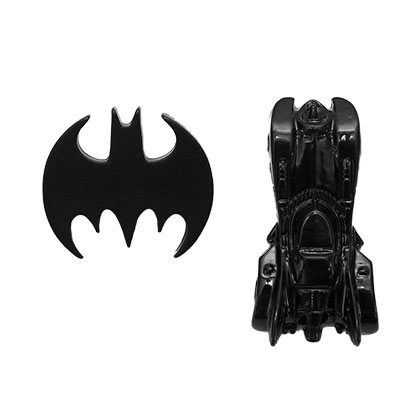 Batman & Batmobile Lapel Pin Set
