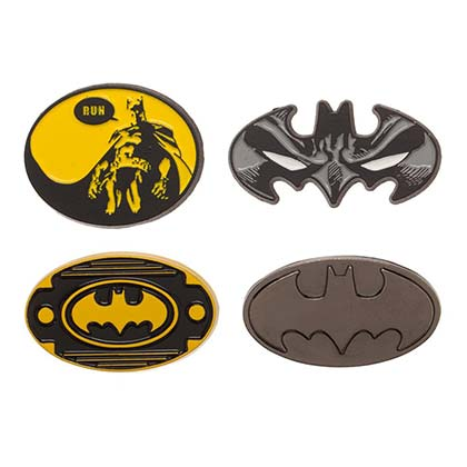 Batman Logo Lapel Pin Set
