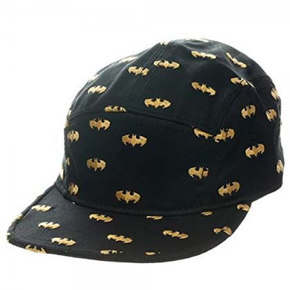Batman Black 5 Panel Bat Signal Hat