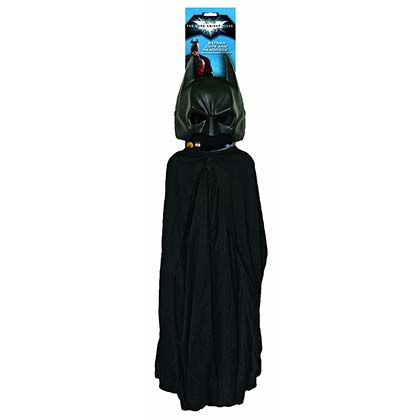 Batman Black Masked Costume Set With Cape