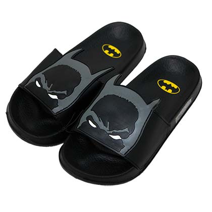 Batman Black Youth Soccer Slide Sandals