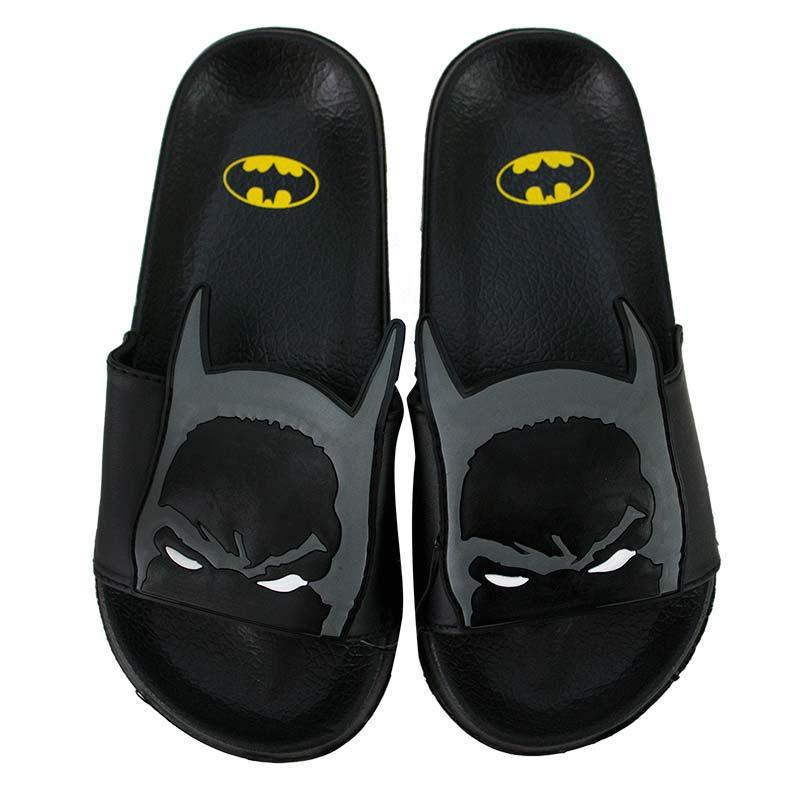 7d4e1720b57 Batman Black Youth Soccer Slide Sandals