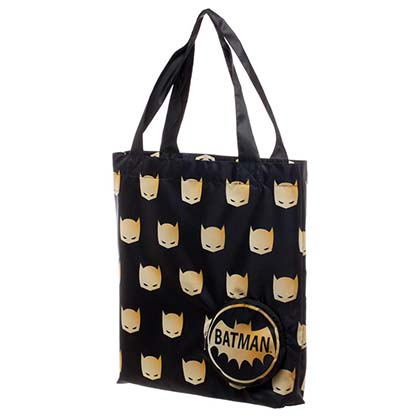 Batman Golden Mask Foldable Tote Bag