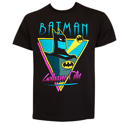 Batman Men's Black Retro Gotham City T-Shirt
