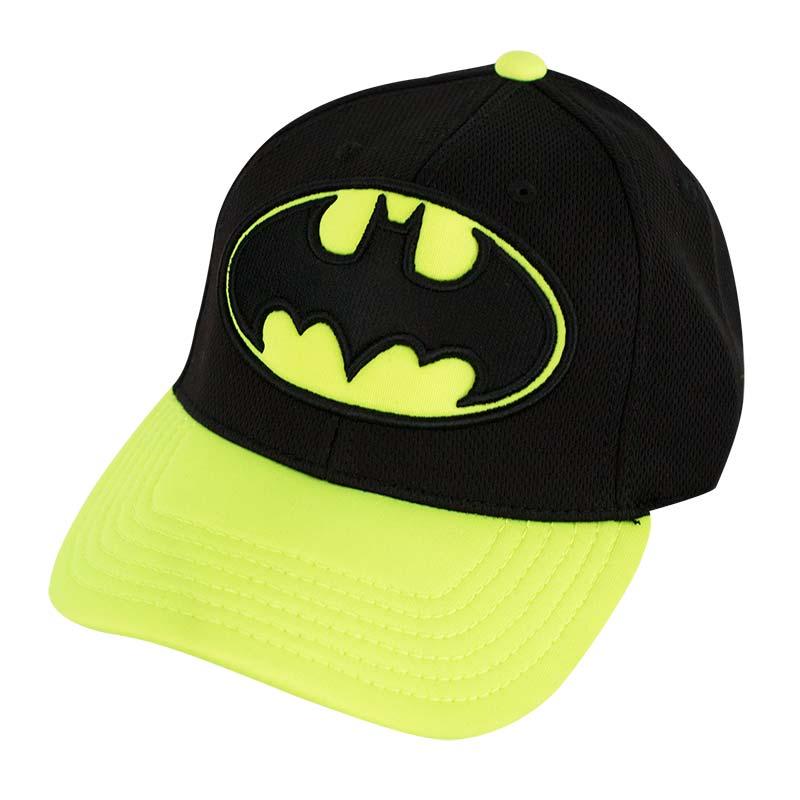 Batman Curved Bill Neon Yellow Hat