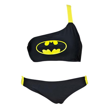 Batman Women's One Shoulder Low Rise Bikini