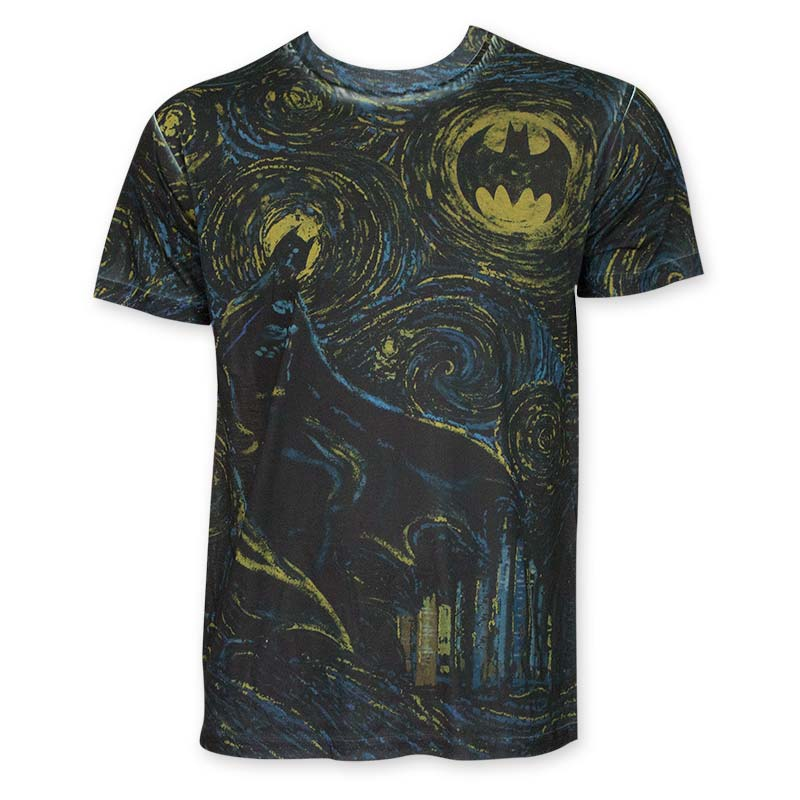 Batman Men's Sublimated Starry Knight Tee Shirt