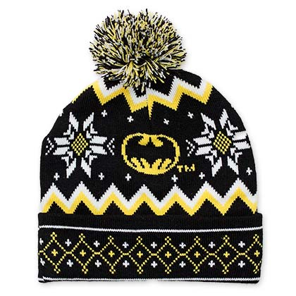 Batman Pom Pom Bat Signal Beanie