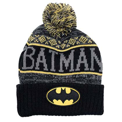 Batman Pom Winter Logo Beanie