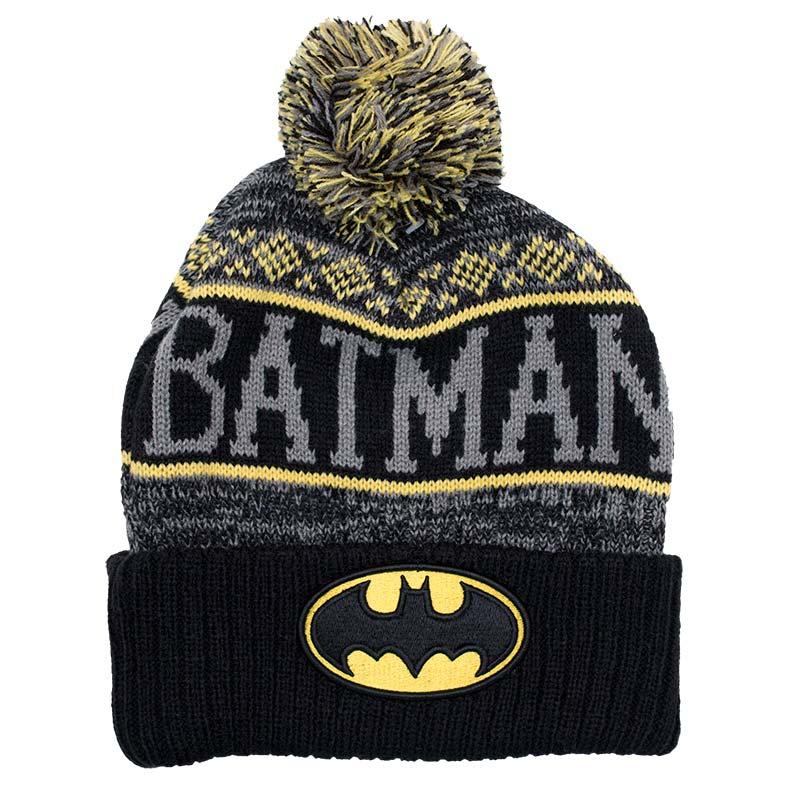 Batman Pom Winter Logo Beanie