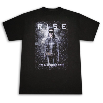 Dark Knight Rises Catwoman Rise Black T Shirt