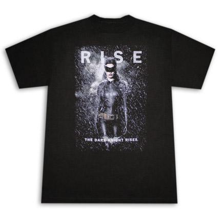 Dark Knight Rises Catwoman Rise Black T Shirt